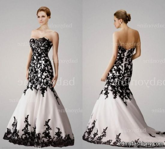 black and white lace ball gown 2016-2017 | B2B Fashion
