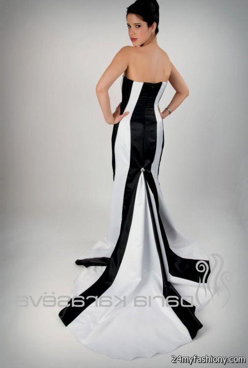 Black and White Mermaid Dress