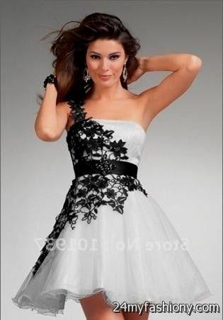 Black And White Party Dresses Photo Album - Reikian