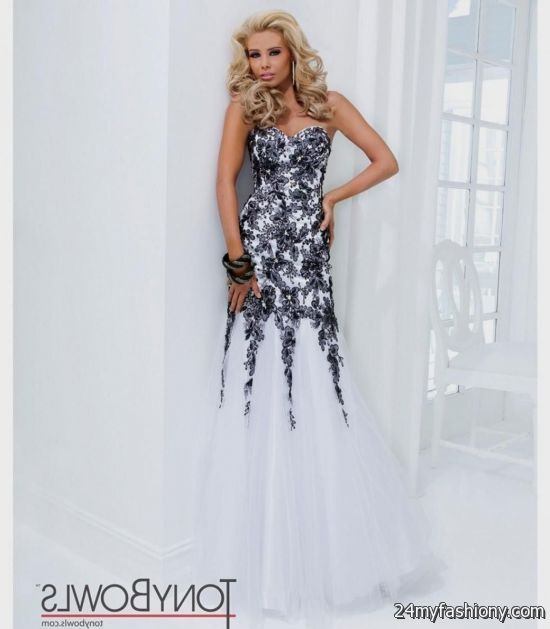 Black And White Prom Dress - RP Dress