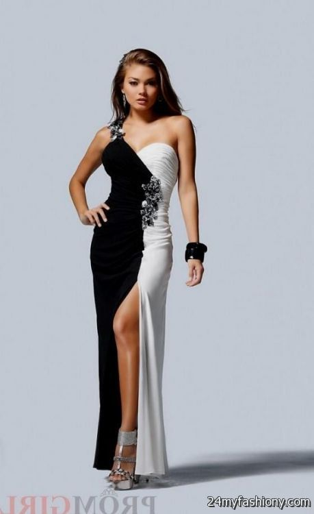 black and white prom dresses 2016-2017 » B2B Fashion