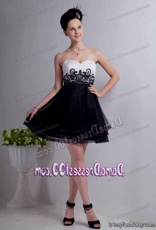 black and white quinceanera dama dresses 2016-2017 » B2B Fashion