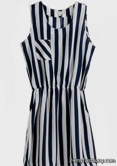 black and white vertical striped dresses 20162017 b2b