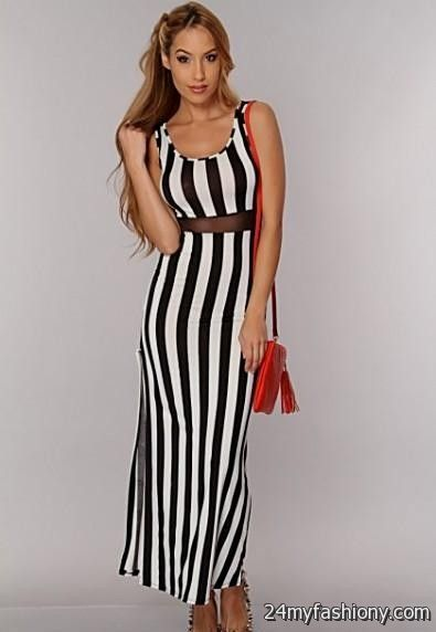 black and white vertical striped dresses 20162017 b2b