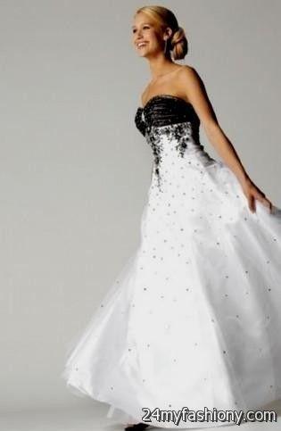 black and white wedding dresses 2016-2017 | B2B Fashion