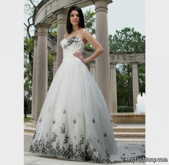 Black And White Wedding Dresses Looks