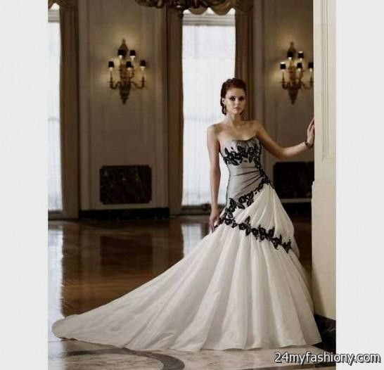 Black And White Wedding Dresses 2016-2017