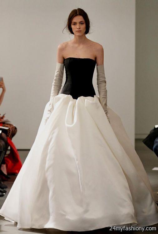 Black And White Wedding Dresses Vera Looks