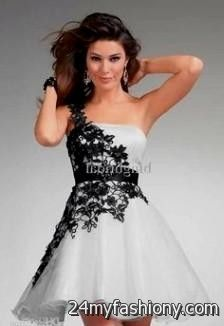 Black and white winter ball dresses