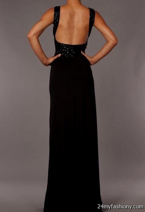Black Backless Maxi Dress Looks B2b Fashion