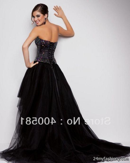 Black Corset Dress Back Looks B2b Fashion