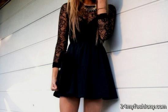Black dress outfit ideas tumblr 2016-2017 | B2B Fashion