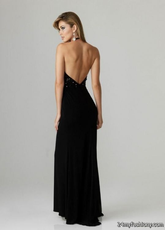 black evening gown backless 2016-2017 | B2B Fashion