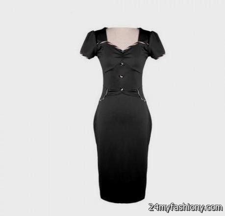 black fitted sheath dress 2016-2017 » B2B Fashion