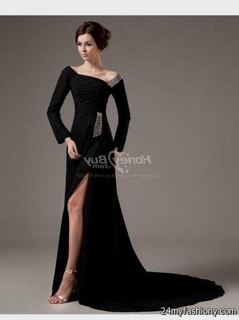 Black Formal Dresses With Sleeves 2016 2017 B2b Fashion