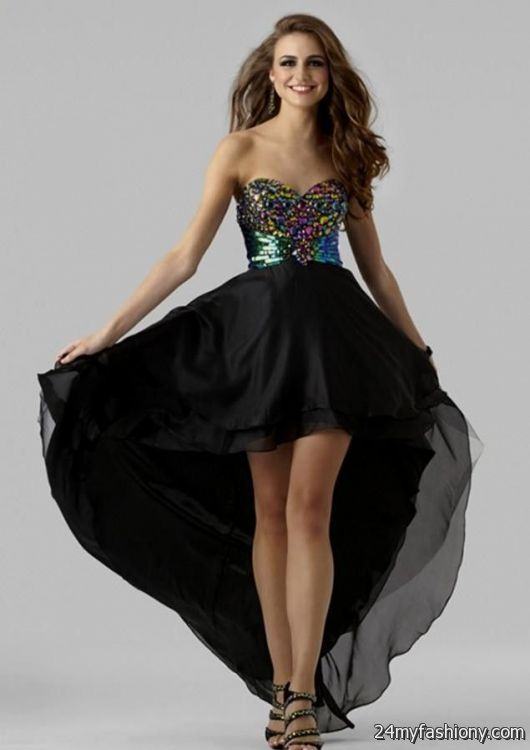 Black High Low Prom Dresses 2016 2017 B2b Fashion