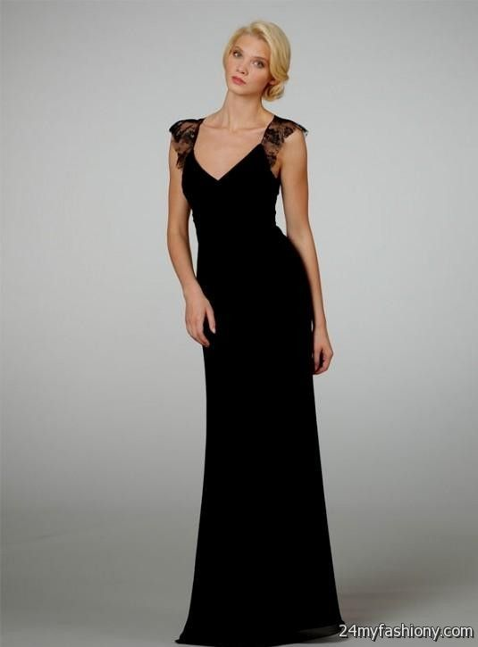 Black Lace Bridesmaid Dresses Long Looks B2b Fashion