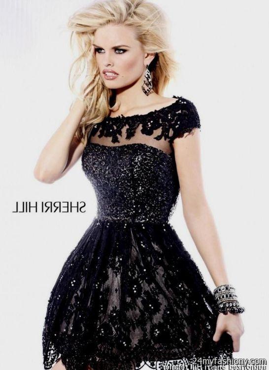 black lace homecoming dresses sherri hill 2016-2017 » B2B Fashion