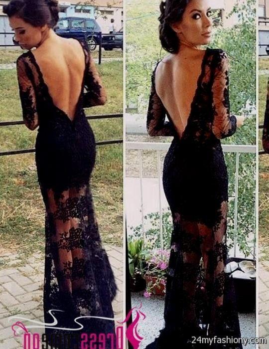 black lace prom dress open back 2016-2017 » B2B Fashion