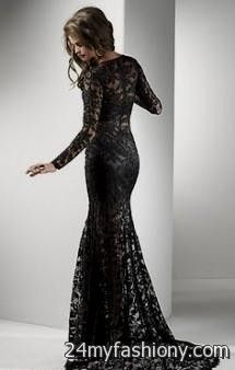 Collection All Black Lace Prom Dress Pictures - Reikian