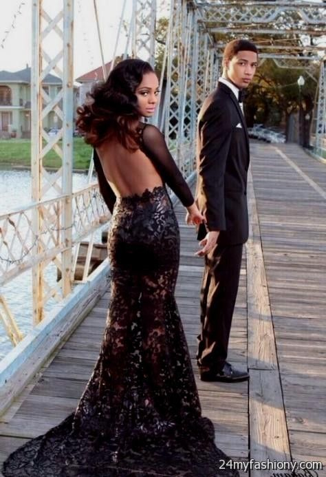 Black lace Prom Dresses tumblr looks | B2B Fashion