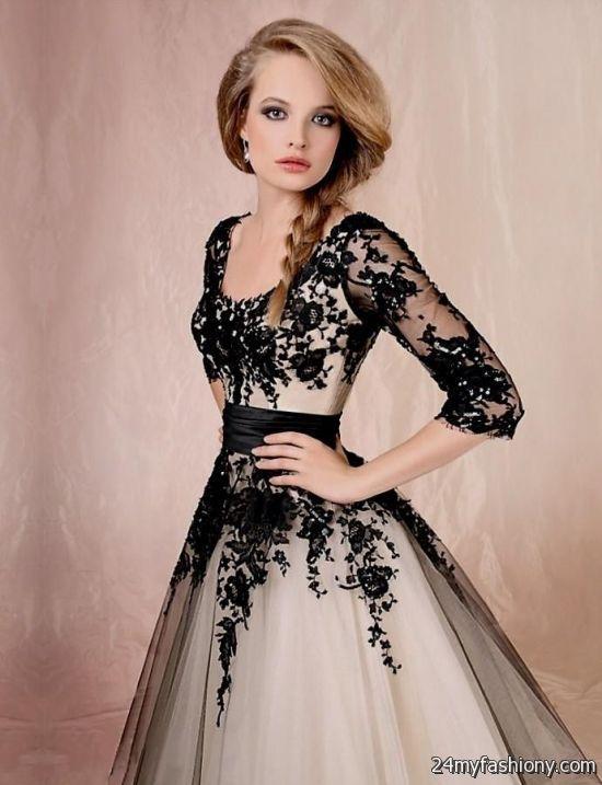 black lace sleeve prom dress 2016-2017 » B2B Fashion