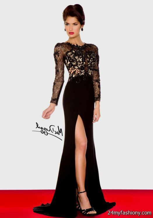 black lace sleeve prom dress 20162017 b2b fashion