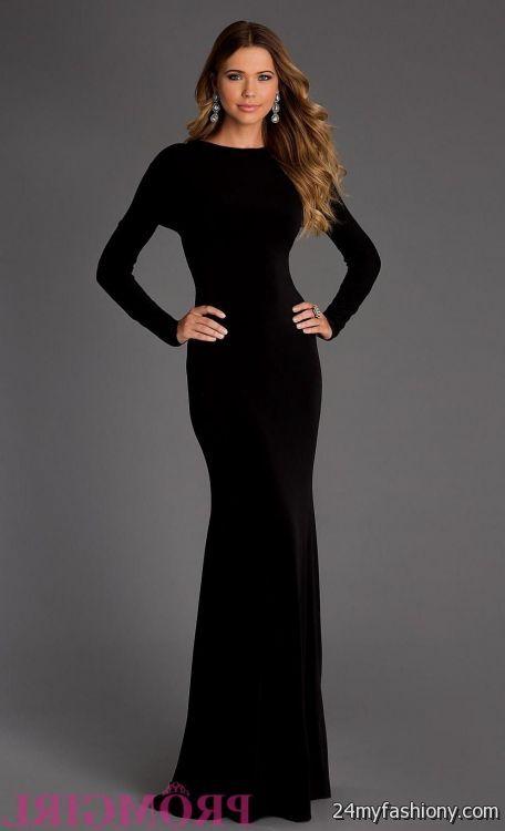 Long sleeve full length dresses