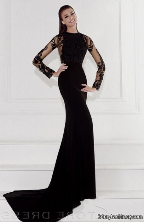 Black long sleeve prom dress 2017-2018 » B2B Fashion