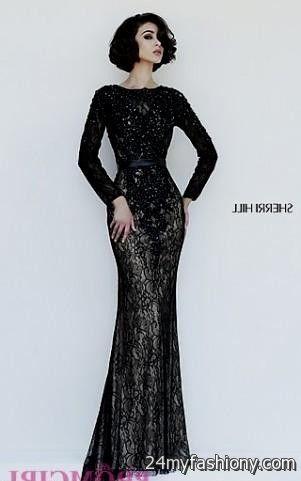 Black Long Sleeve Prom Dress Sherri Hill Looks B2b Fashion