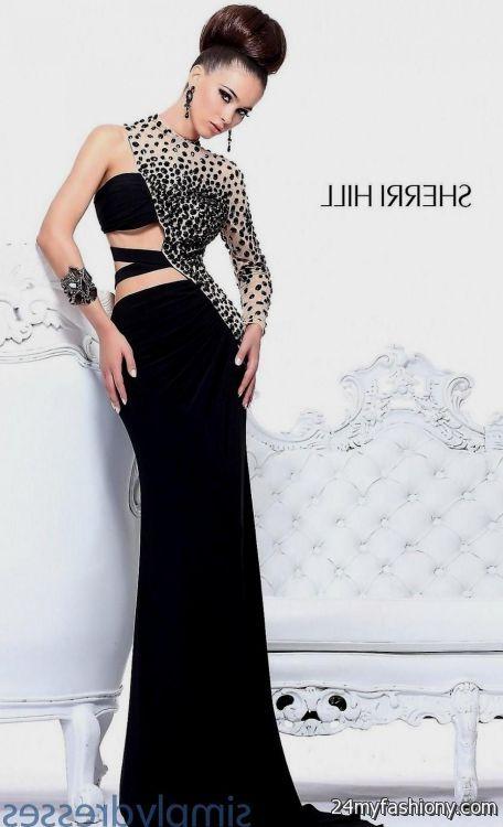 One sleeve black homecoming dresses
