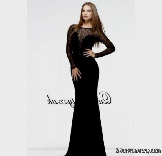 Black long sleeve prom dresses looks | B2