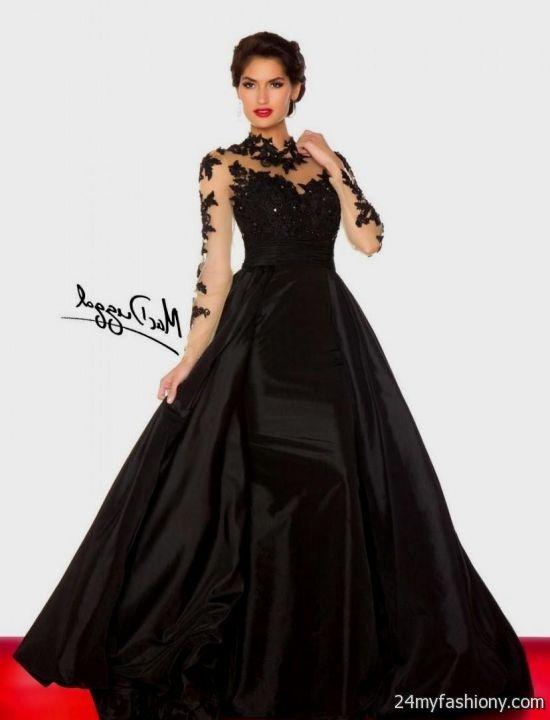 Black Long Sleeve Prom Dresses Looks B2b Fashion