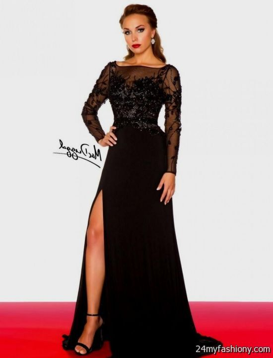 Black long sleeve prom dresses 2016-2017 | B2B Fashion