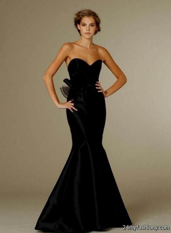 black mermaid bridesmaid dresses 2016 2017 b2b fashion