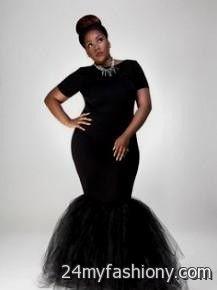 black mermaid dress plus size looks | B2B Fashion