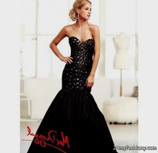 black mermaid prom dress 20162017 b2b fashion
