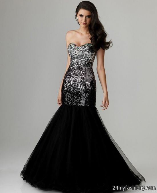 Images of Black Mermaid Prom Dress - Reikian