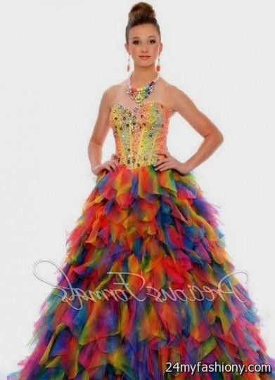 black rainbow prom dress 2016-2017   B2B Fashion