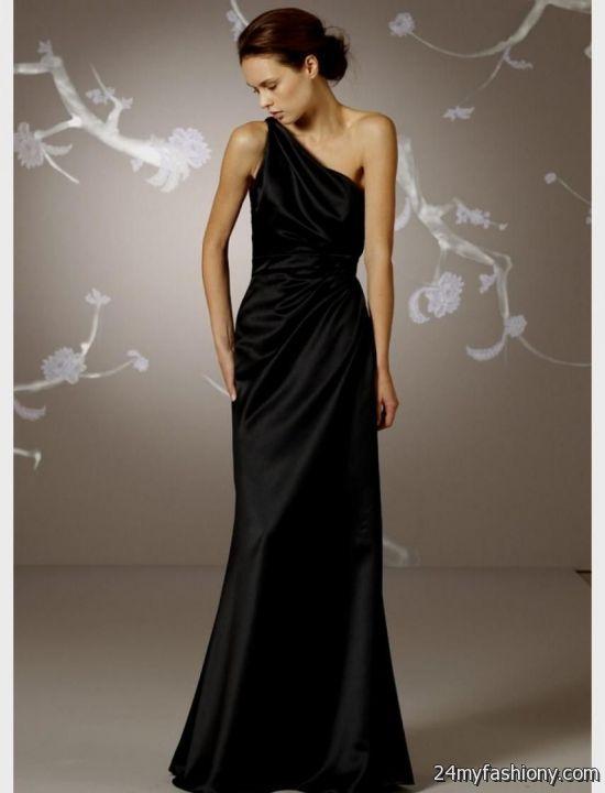black satin bridesmaid dresses long 2016-2017 » B2B Fashion