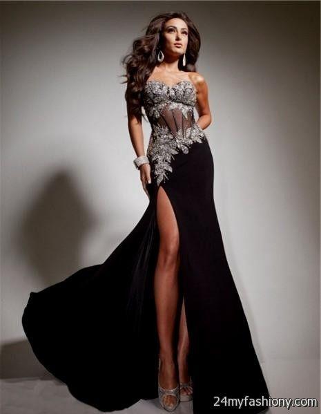 Black Sequin Corset Prom Dress 2016 2017 B2b Fashion