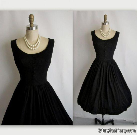 black vintage cocktail dress 2016-2017 » B2B Fashion
