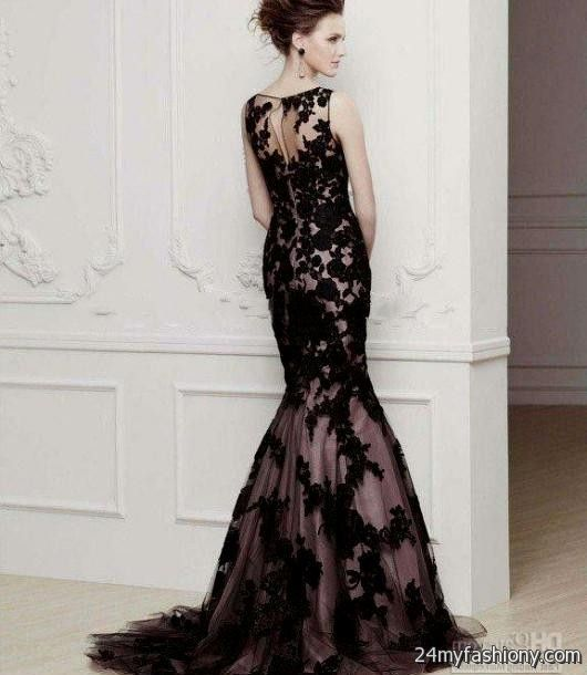 Black Vintage Lace Prom Dresses Looks