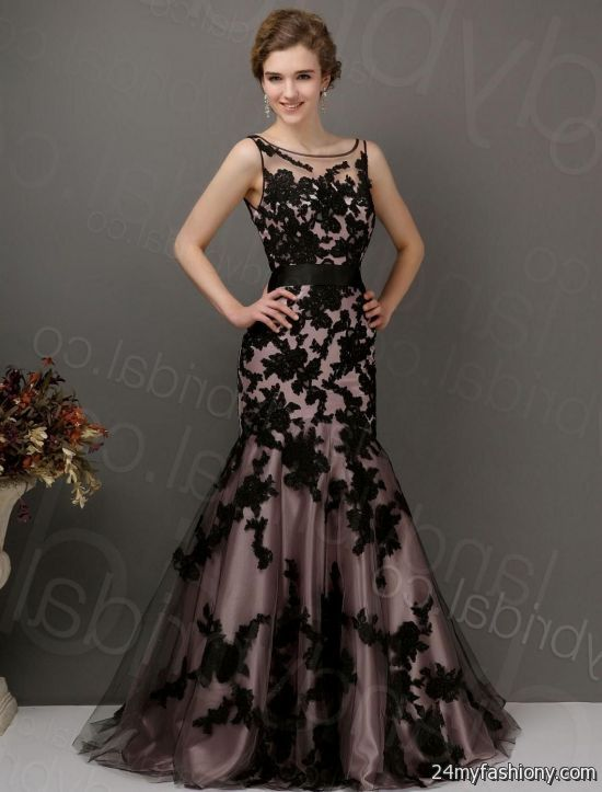 Old fashioned lace prom dresses