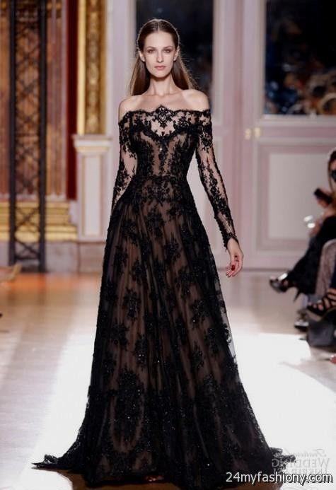 Elegant Black Wedding Dresses