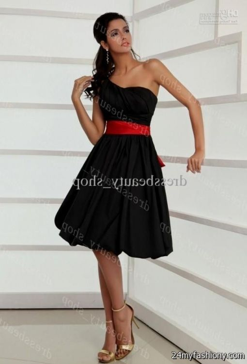 black with red sash bridesmaid dresses 20162017 b2b fashion