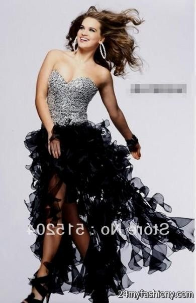 blue and black high low prom dresses - 36.6KB