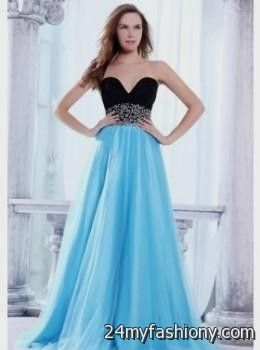 Blue and black prom dresses 2014