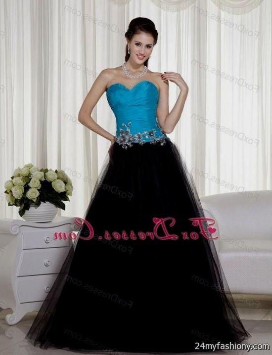 Blue And Black Prom Dresses 2014 - Missy Dress