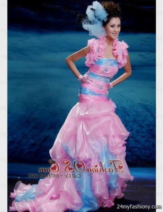 blue and pink mermaid prom dresses 2016-2017 » B2B Fashion